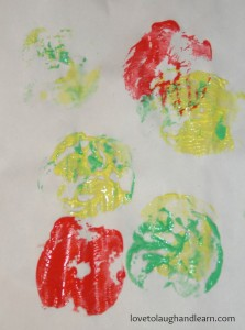 Apple Print by my 2 yr old Great-Niece