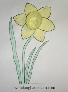Learning Activities for the Color Yellow: Daffodil Craft