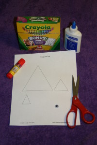 Materials for Triangle Fish Craft