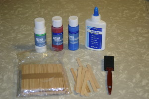 Materials for Popsicle/ Craft Stick Star