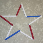 Have fun with stars by making this popsicle/craft craft.