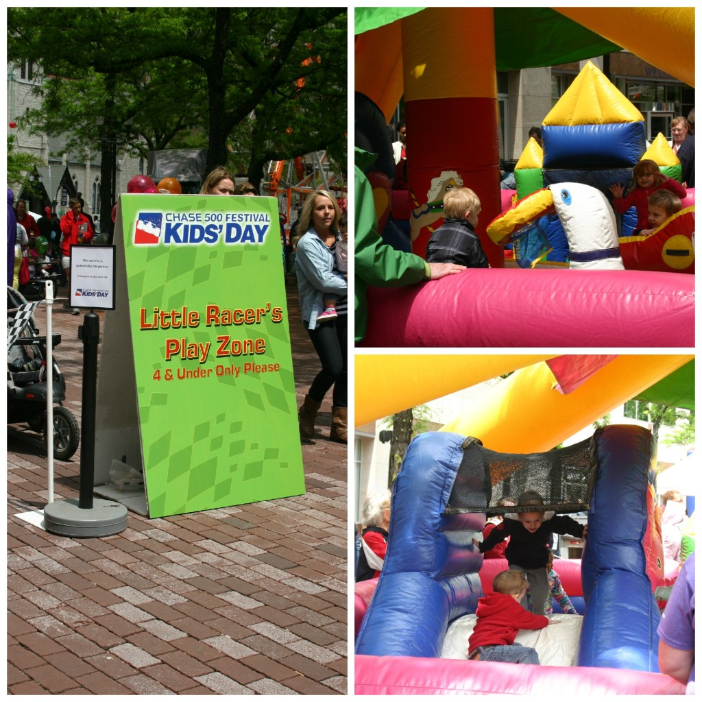 Bounce House for Young Children at the Chase 500 Festival Kids' Day