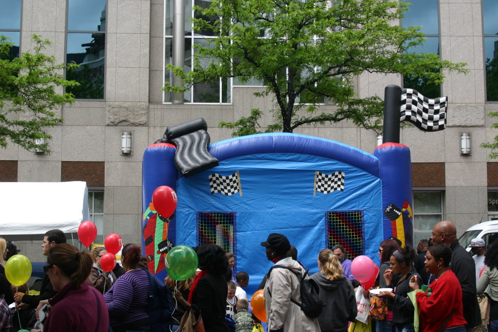 Race Car Bounce House at Chase 500 Festival Kids' Day