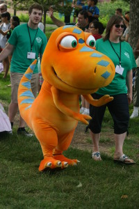 PBS Kids in the Park:  Dinosaur Character