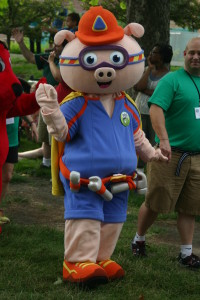 PBS Kids in the Park: PBS Pig Character