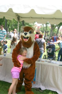 PBS Kids in the Park: Madison with a character