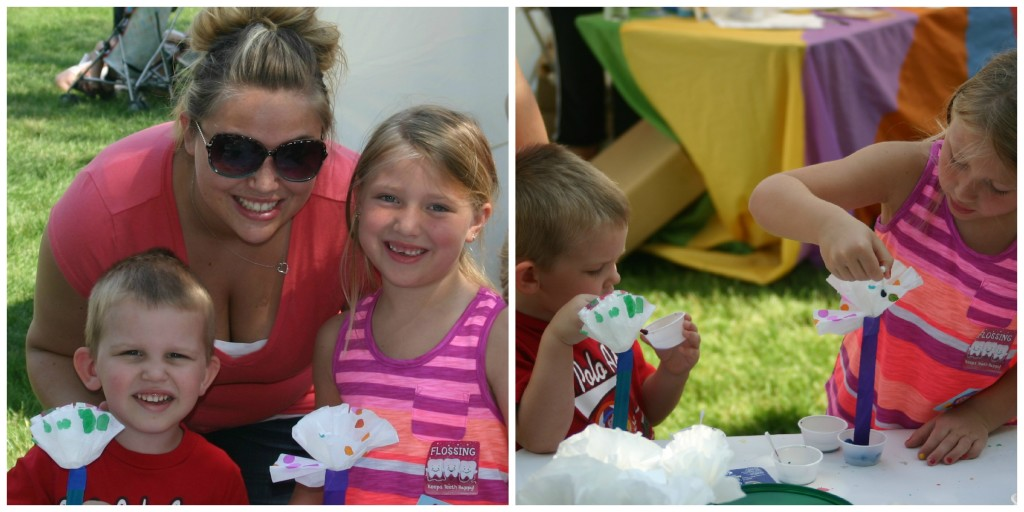 PBS Kids in the Park: Painting flowers