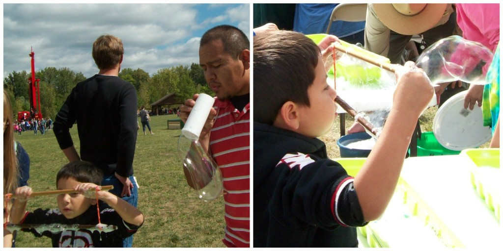 Love to Laugh and Learn: Blowing Bubbles at Hoosier Outdoor Experience