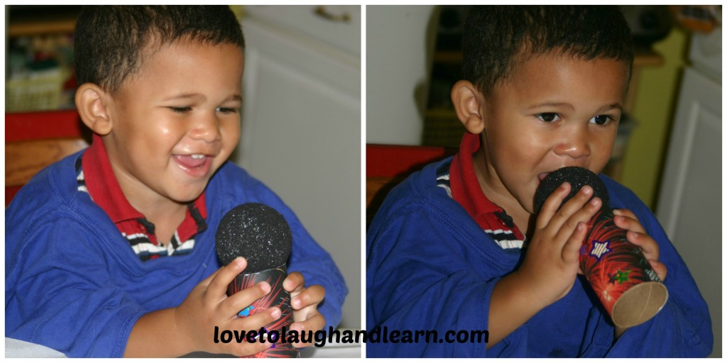 Love to Laugh and Learn: The microphone craft is a hit! Fun with Music: Voices