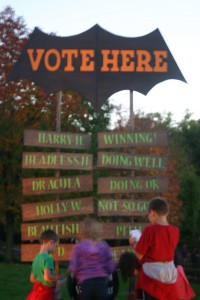 Spooky Fun at Conner Prairie: Voting