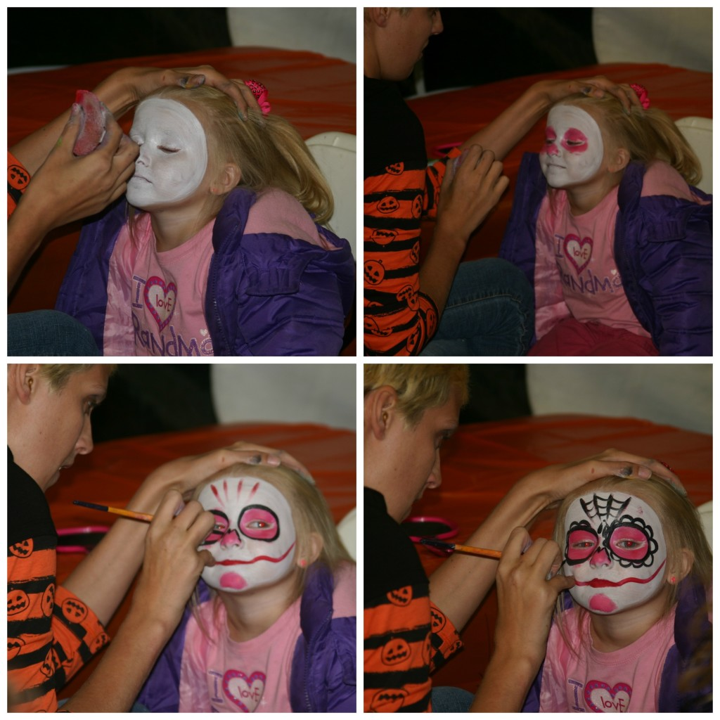 Spooky Fun at Conner Prairie: face painting