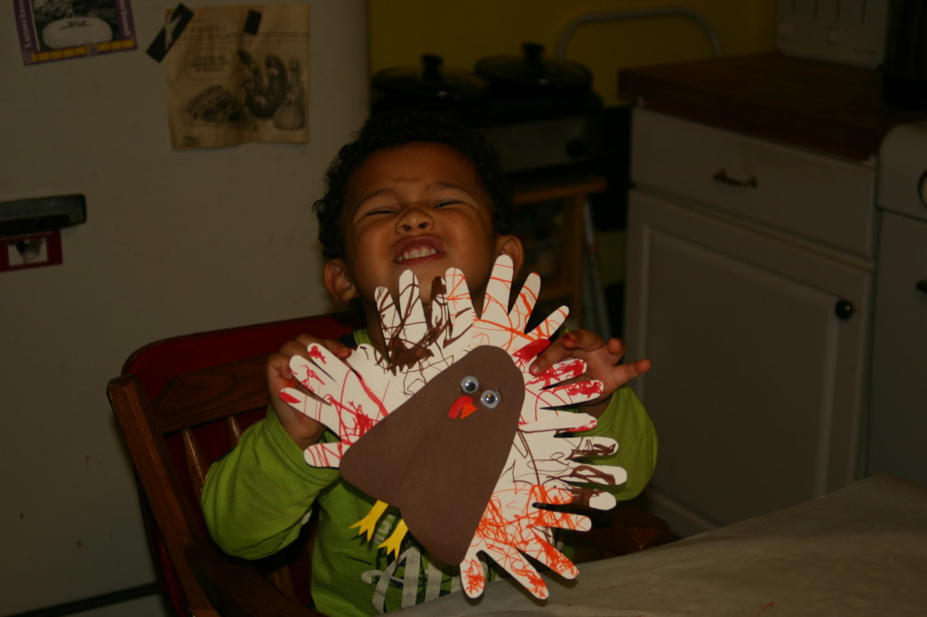 Fun with Turkeys: Hands & Feet Turkey Craft