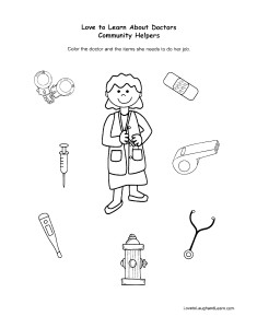 Community Helpers: Doctor Fun Sheet