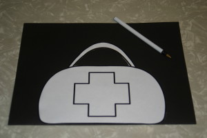 Community Helpers: Doctors -Do ctor's Bag Craft