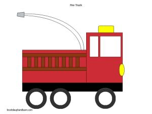 Firefighters: Fire truck Shape Craft