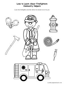 Community Helpers: Firefighter Fun Sheet