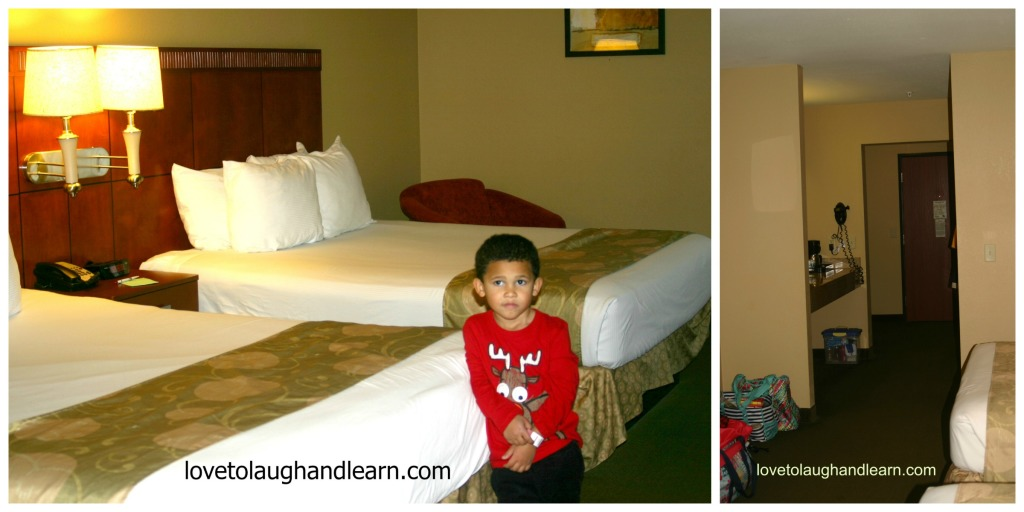 Big Splash Adventure: inside hotel room