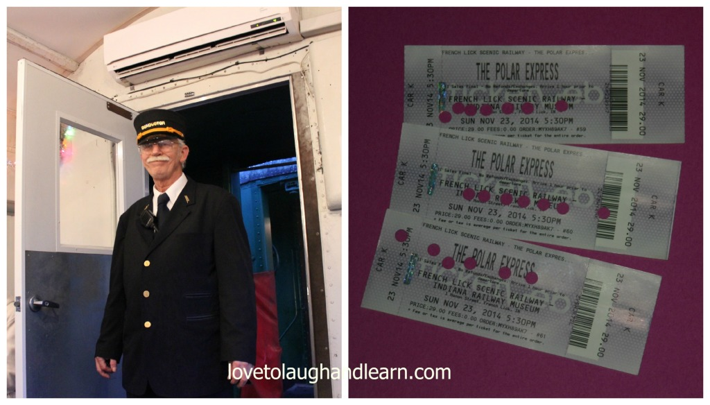 Making Memories with the Polar Express: Conductor & tickets