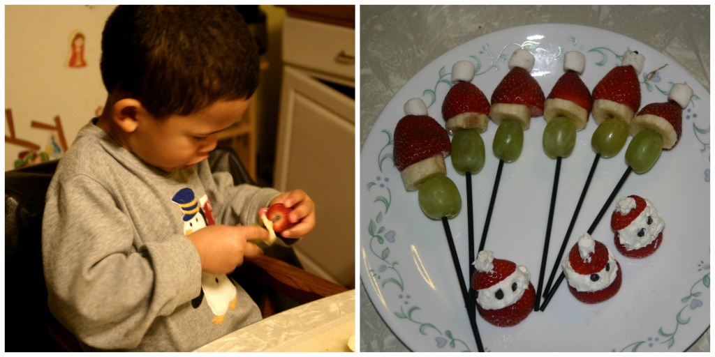Making Memories with the Polar Express: creating Santa kabobs
