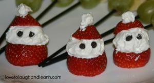 Making Memories with the Polar Express: strawberry Santas