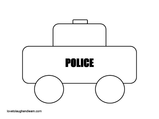 police car craft Archives Love to Laugh and Learn – Printable Car Template