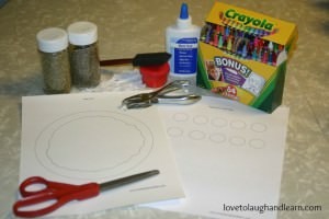 Materials Needed for Circle Pizza Craft