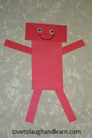 Have fun learning about rectangles with this Red Rectangle Robot.