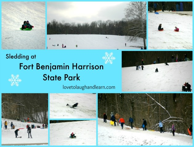 Family Friendly Events: Sledding at Fort Benjamin Harrison State Park