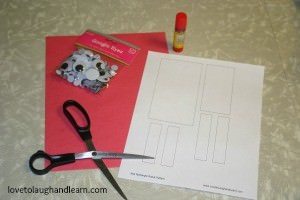 Materials for Red Rectangle Robot Craft