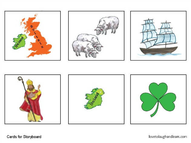Enjoy learning about Saint Patrick and this special holiday with this fun Saint Patrick's Day Storyboard for the Older Child