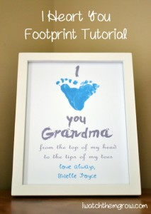 """I Love You Grandma"" plaque, courtesy of I Watch Them Grow"