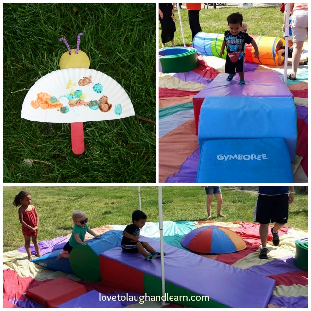 Fun at the Gymboree Tent
