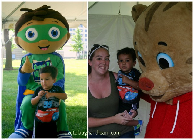 PBS Kids Day: Meeting Super Why and Daniel Tiger