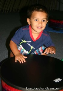 Our grandson is still enjoying Shake Rattle and Roll at Bongo Boy Music School.