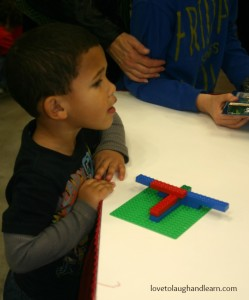 LEGO® KidsFest: Jeremiah's first ever Lego creation