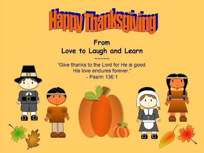 Happy Thanksgiving from Love to Laugh and Learn