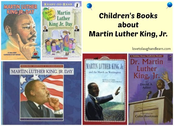 Share these books about Martin Luther King, Jr. with your children.