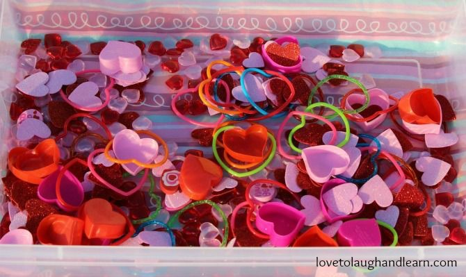 The Lame Valentine Sensory Bin