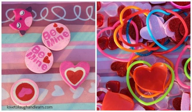 The Lame Valentine Bin: Erasers and Bracelets