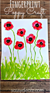 Fingerprint Poppy Craft by Crafty Morning