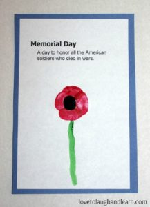 Memorial Day: Fingerprint Poppy craft