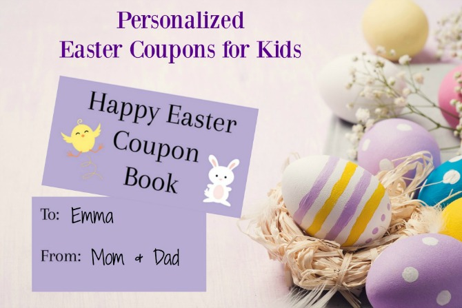 Easter Coupons for Kids to Create